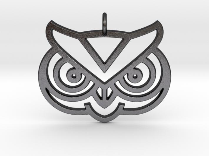 Owl Head Pendant 3d printed