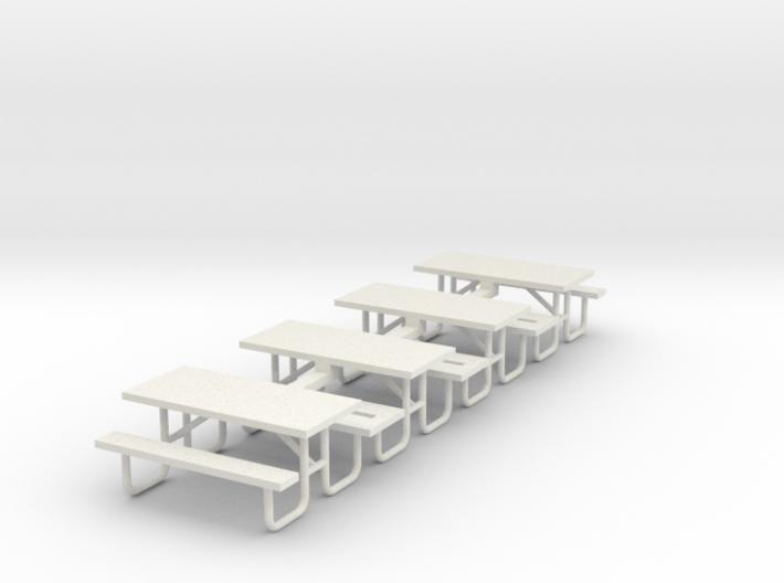 MOF Picnic Table Metal 6ft(4)[72-1] 3d printed