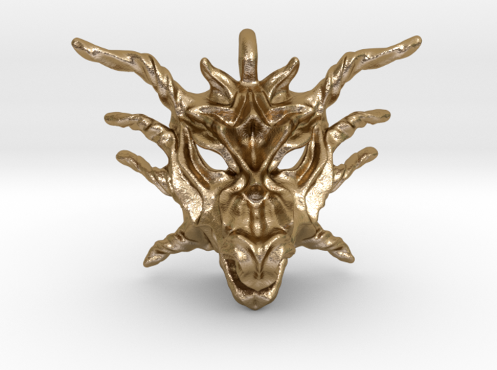 Sunlight Dragon Small Pendant 3d printed