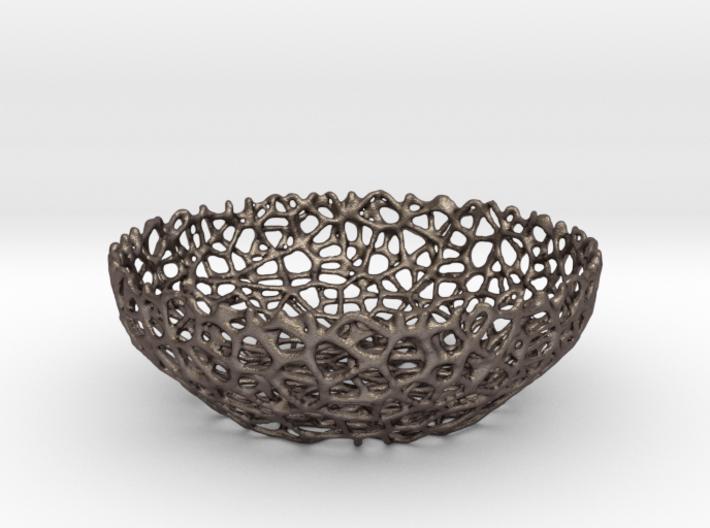 Voronoi Key shell / bowl (12 cm) - Style #8 3d printed