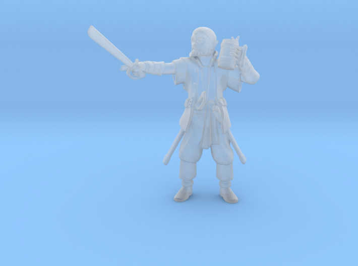 Half Elf Pirate 3d printed