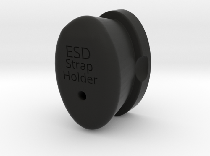 ESD Wrist Strap Holder 3d printed Match your monitor!