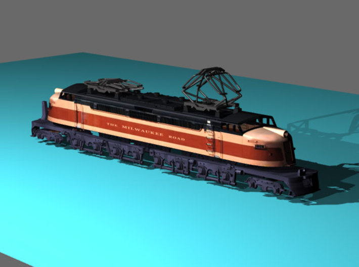 NScale EF4 Little Joe, Milwaukee Road Early with F 3d printed **Note: Pantograph for reference only and is not included with this model