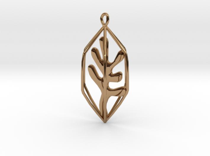 Seaweed Pendant 3d printed