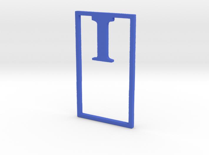 Bookmark Monogram. Initial / Letter I  3d printed