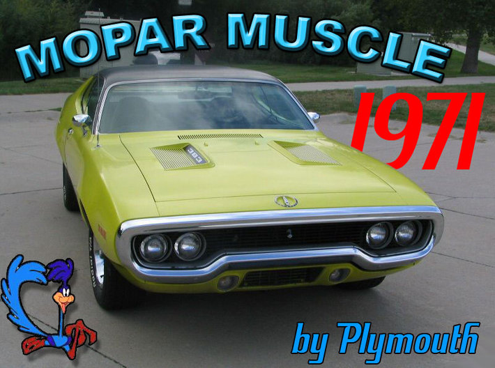 1/87 Scale Old School Muscle Car 3d printed