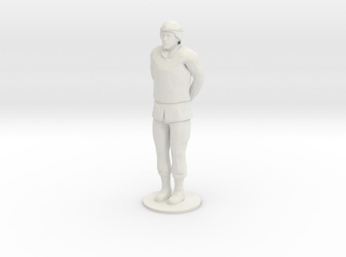 Male Soldier Hand Behind 3d printed