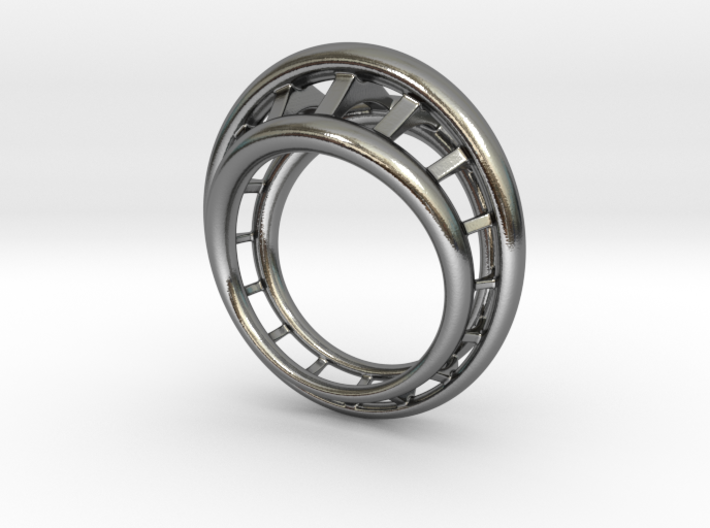 Roller Coaster Ring - Size 12 (21.49 mm) 3d printed