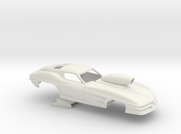 1/16 1963 Pro Mod Corvette 3d printed