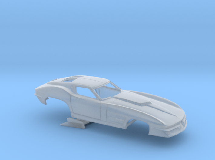 1/43 1963 Pro Mod Corvette No Scoop 3d printed