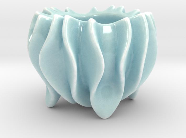 Ripple Sugar Bowl  3d printed
