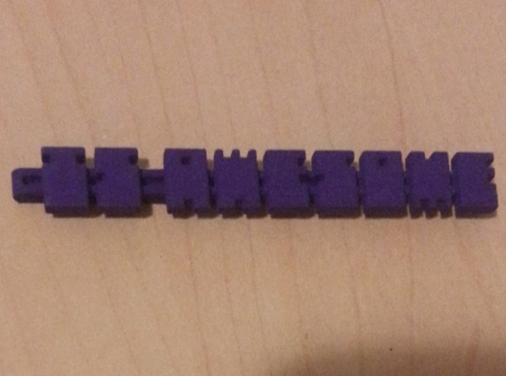 IS AWESOME Badge Clip 3d printed Who's Awesome?