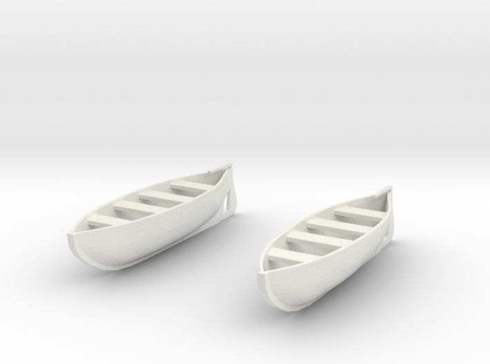 1:144 28 foot Life Boats (2) 3d printed