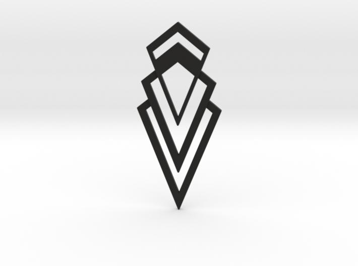 Art Deco Pendant - Valorous 3d printed