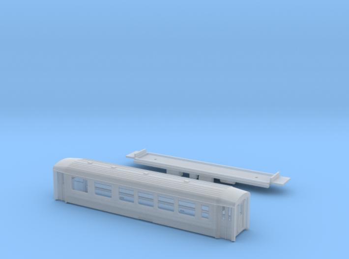 Passenger car type AB-1S w/bogie 3d printed
