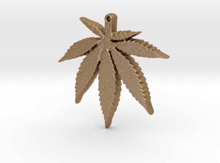 weed leaf down 3d printed