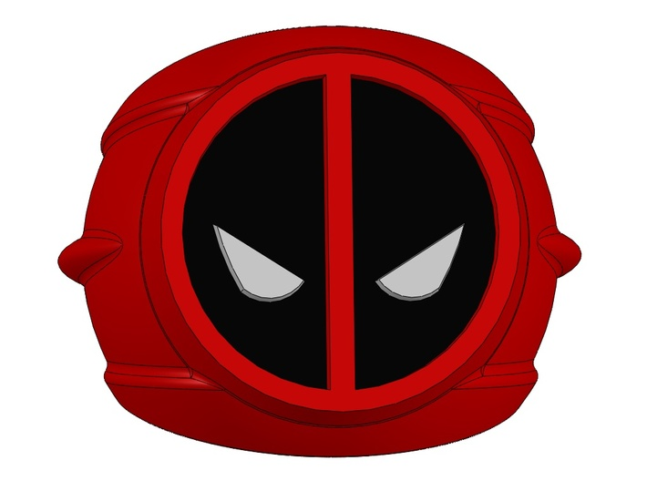 Deadpool Ring 20mm size 10 3d printed