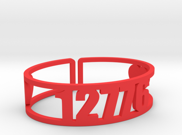 Timber Lake West Zip Cuff 3d printed