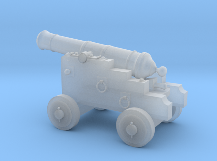 18th Century 3# Cannon-Small Naval Carriage 1/35 3d printed
