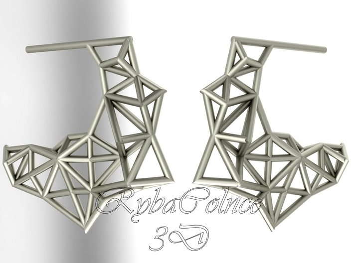 Earrings The Polygon 3d printed