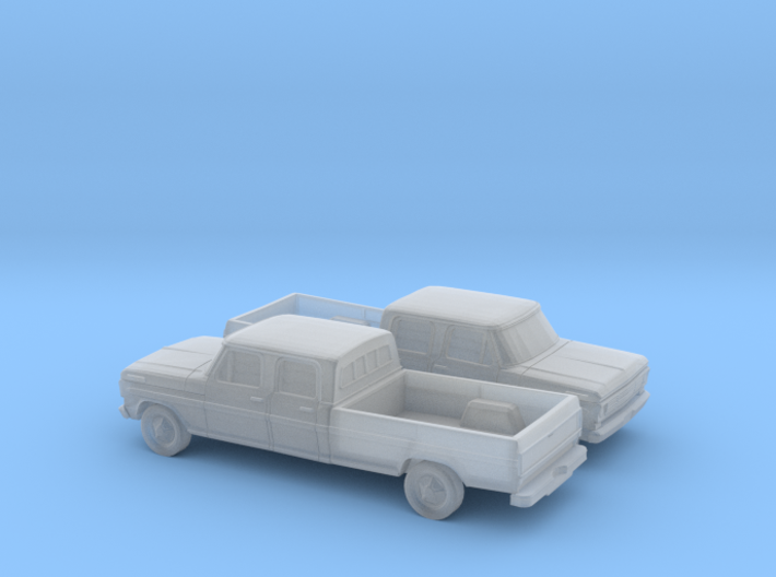 1/160 2X 1967-69 Ford F-Series Crew Cab 3d printed