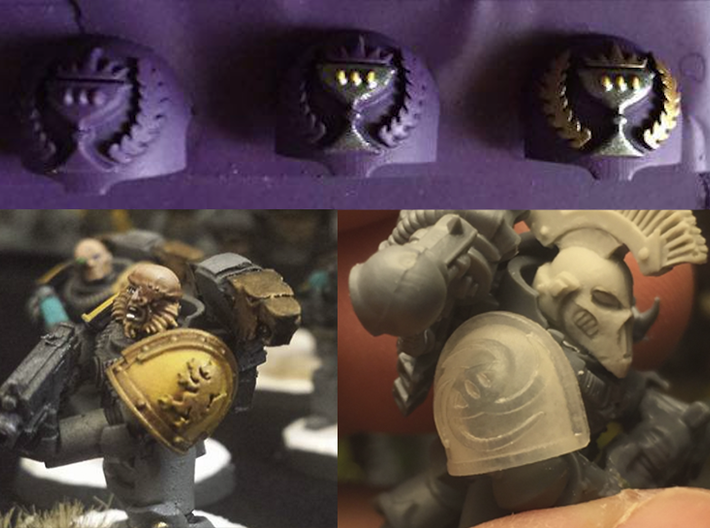 10x Iron Wolves - G:3a Right Shoulders 3d printed