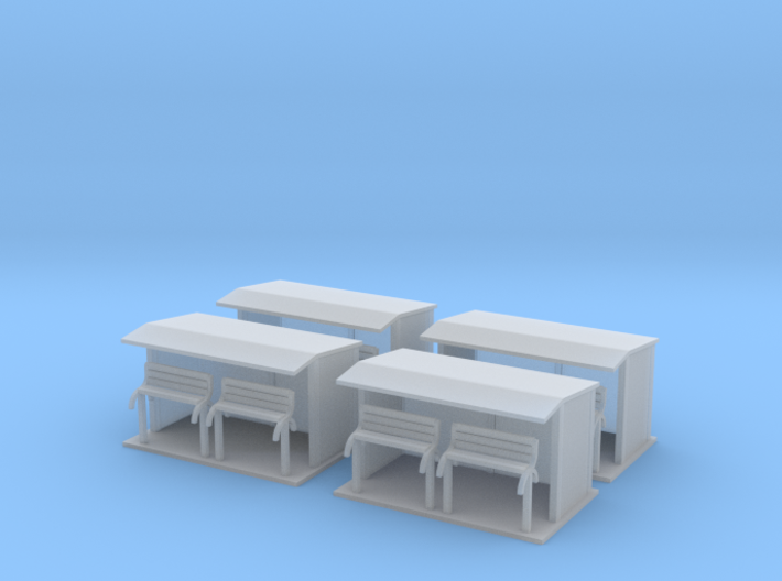 Bus Stop Z Scale 3d printed