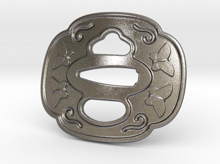 Tsuba Belt Buckle - 鍔 バックル 3d printed