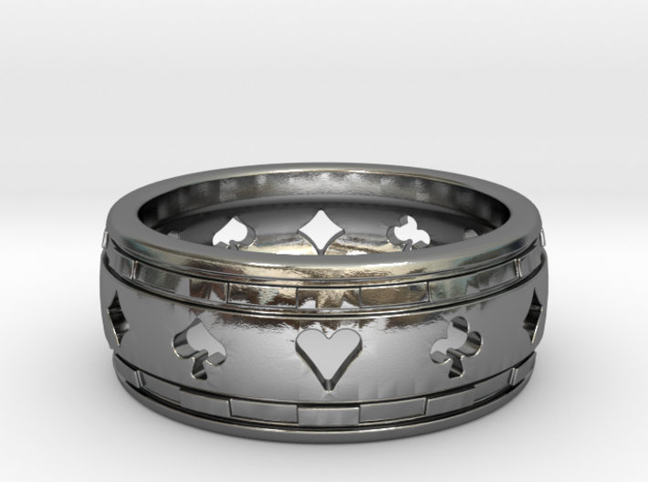 Bague-Ring Poker Deluxe 3d printed