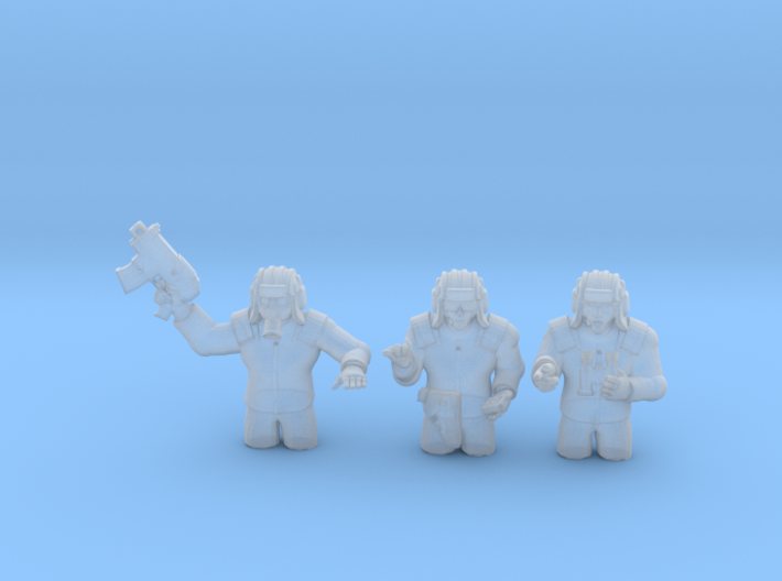 28mm (neo)Soviet tank commanders 3d printed