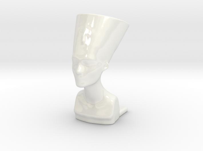Nefertiti Mini Planter Porcelain 3d printed