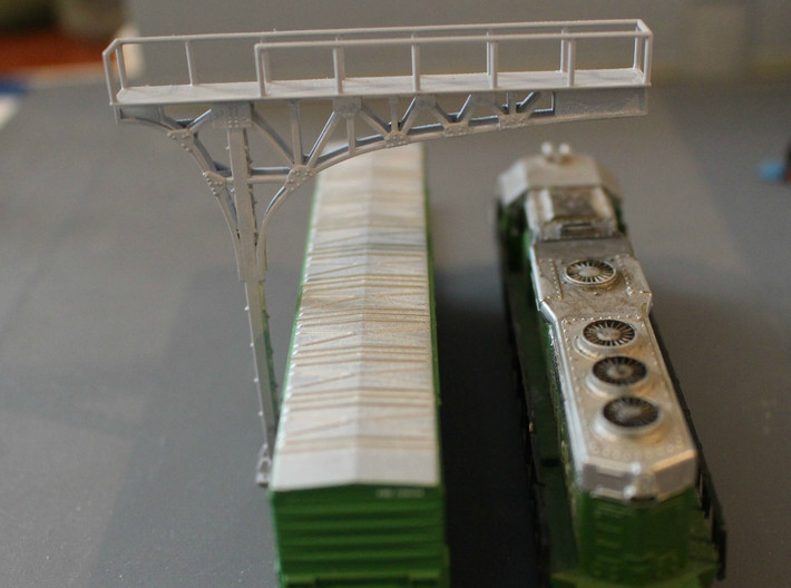 N Scale 2x ATSF Style Cantilever 3d printed