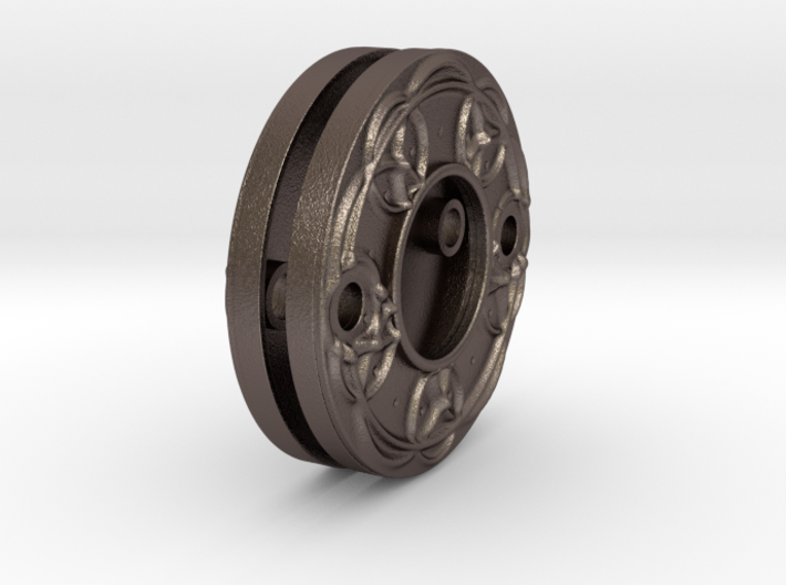 "Escutcheon for Dragon door handles - "" Holy Circle 3d printed dragon doorhandle escutcheon circles"