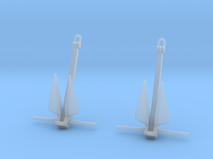 1/72 USN DANFORTH SHIP ANCHOR 750kg  3d printed