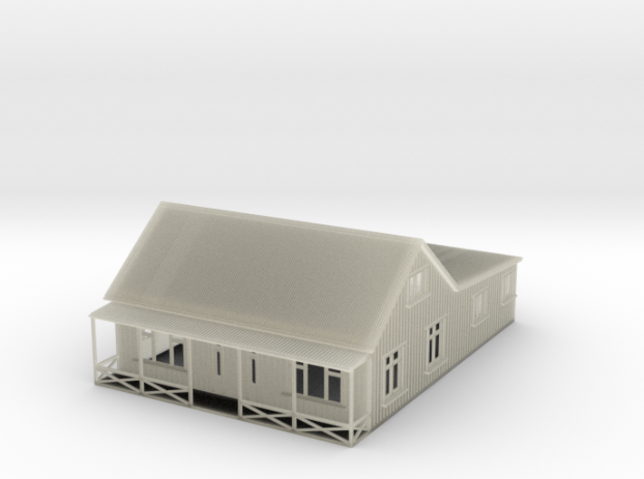 Nscale cottage with veranda 3d printed