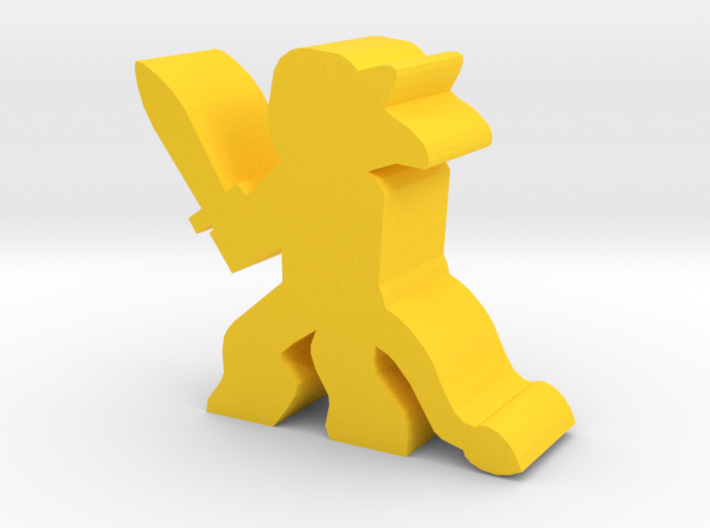 Game Piece, Griffin Faun With Sword 3d printed