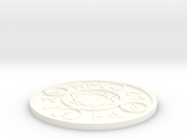 Magic Spell Circle Coaster 3d printed