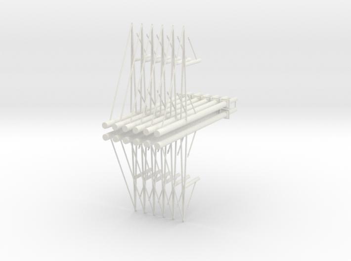 Turmmast Mit 2fach-Ausleger 12fach 3d printed
