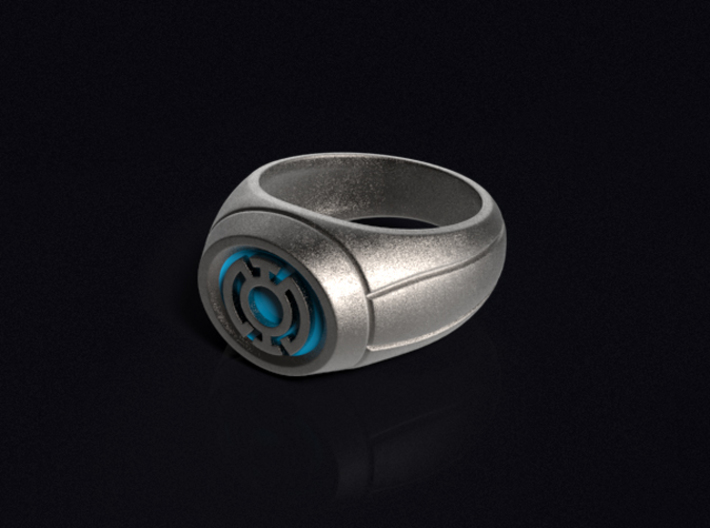 Blue Lantern Ring 3d printed 3D render of the ring. Does not come with enamel paint applied.