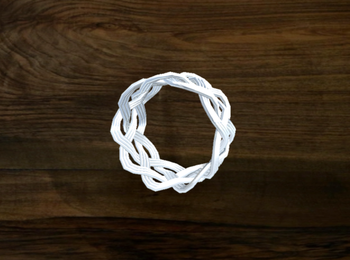 Turk's Head Knot Ring 4 Part X 9 Bight - Size 7 3d printed