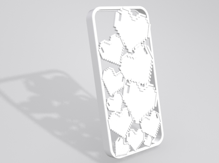 Pixel Heart iPhone 5 Case 3d printed Sample render