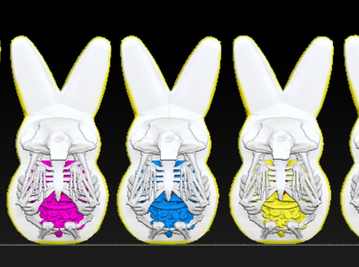 Peep Rabbit Collection 3d printed