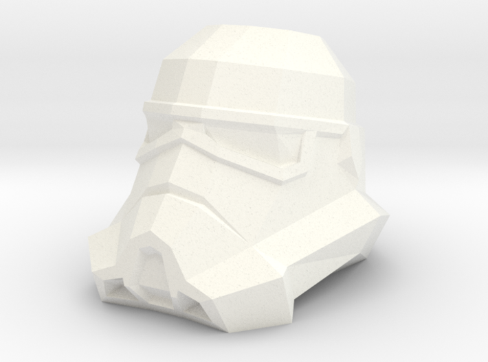 Storm Trooper Low Poly Head 3d printed