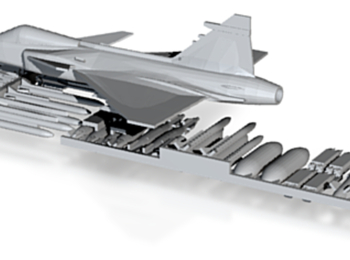 Saab Gripen JAS 39 1/285 Scale 3d printed