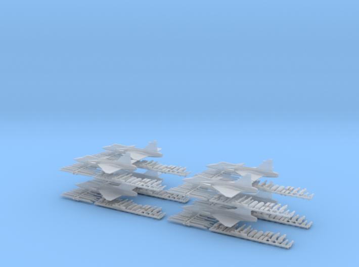 Saab Gripen JAS 39 - 8 pack 1/285 Scale 3d printed