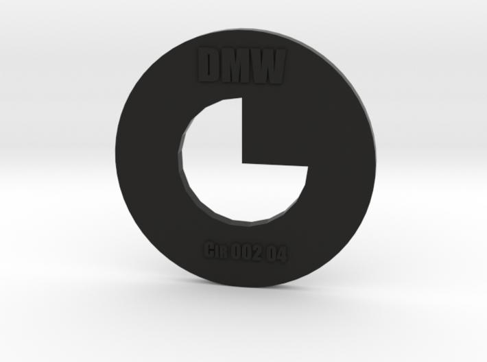 Clay Extruder Die: Circle 002 04 3d printed