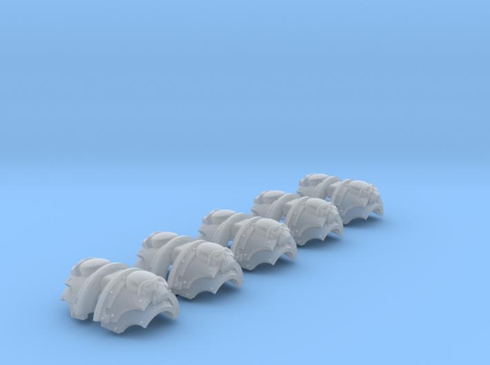 5x Mortifactors = Cataphractii Shoulder Sets 3d printed