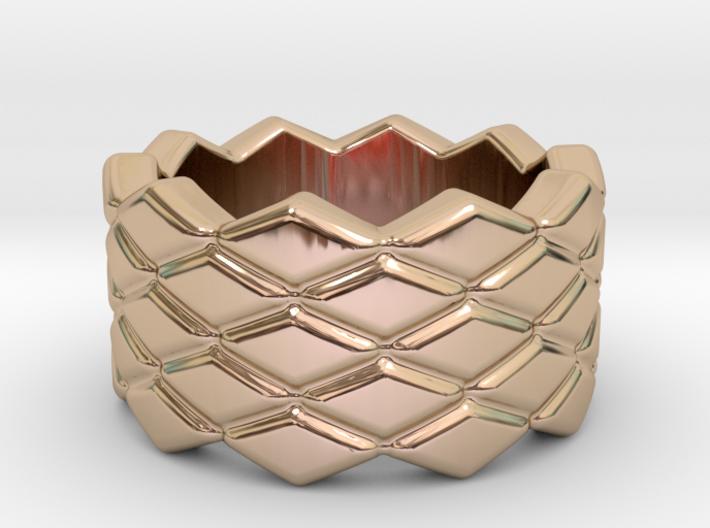 Rhombus Ring 14 – Italian Size 14 3d printed