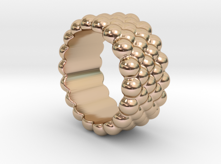 Bubbles Round Ring 32 – Italian Size 32 3d printed