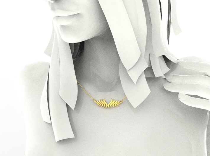Fashion Fire Pendant1008 3d printed